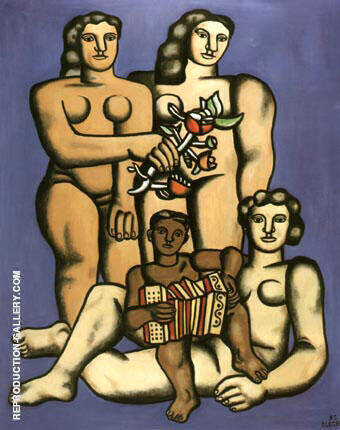 Three Sisters By Fernand Leger - Oil Paintings & Art Reproductions - Reproduction Gallery