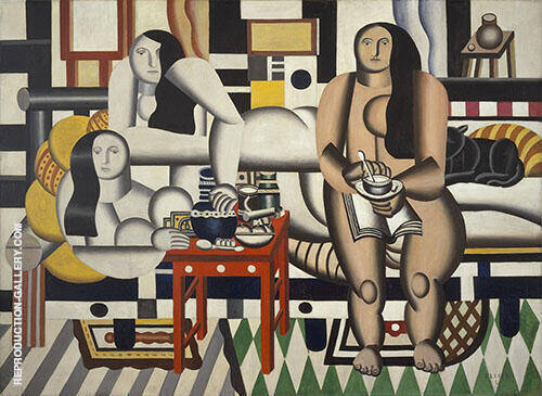 Three Women Le Grand Dejeuner 1921 By Fernand Leger Replica Paintings on Canvas - Reproduction Gallery
