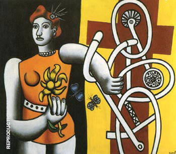 Big Julie 1945 By Fernand Leger Replica Paintings on Canvas - Reproduction Gallery