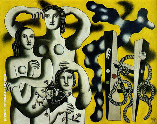 Reproduction of Composition with Three Figures 1932 by Fernand Leger | Oil Painting Replica On CanvasReproduction Gallery