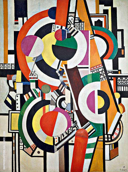 The Disks 1918 Painting By Fernand Leger - Reproduction Gallery