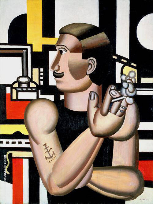 The Mechanic 1920 Painting By Fernand Leger - Reproduction Gallery