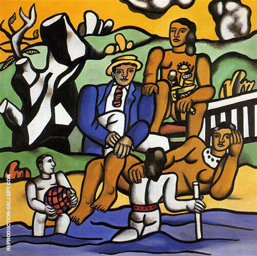 The Country Outing 1954 Painting By Fernand Leger - Reproduction Gallery