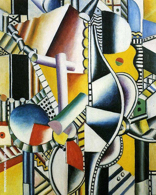 Propellers 1918 Painting By Fernand Leger - Reproduction Gallery