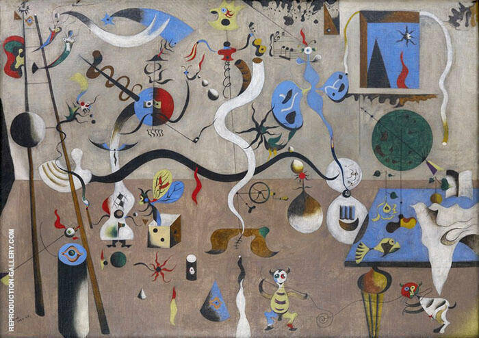 Harlequin's Carnival c1924 Painting By Joan Miro - Reproduction Gallery