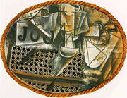 Still Life with Chair Caning 1912 By Pablo Picasso