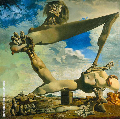 Soft Construction with Boiled Beans 1936 Painting By Salvador Dali