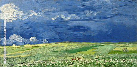 Wheatfield under Thunderclouds 1890 Painting By Vincent van Gogh