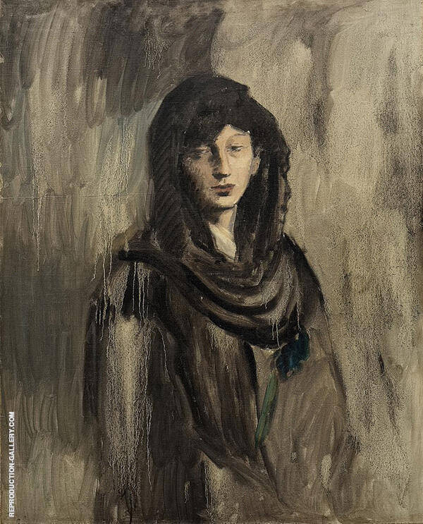 Fernande with a Black Mantilla 1905 By Pablo Picasso