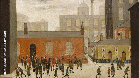 Coming out of School 1927 By L-S-Lowry