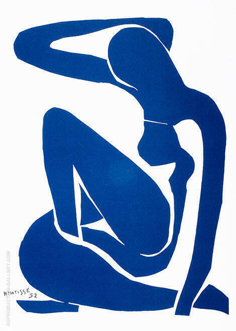 Blue Nude Painting By Henri Matisse - Reproduction Gallery