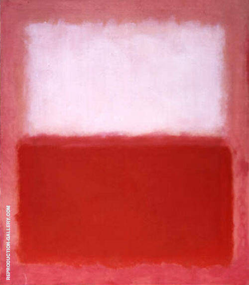 White over Red 1957 By Mark Rothko