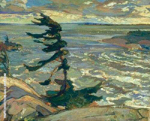 Stormy Weather By Frederick Varley - Oil Paintings & Art Reproductions - Reproduction Gallery