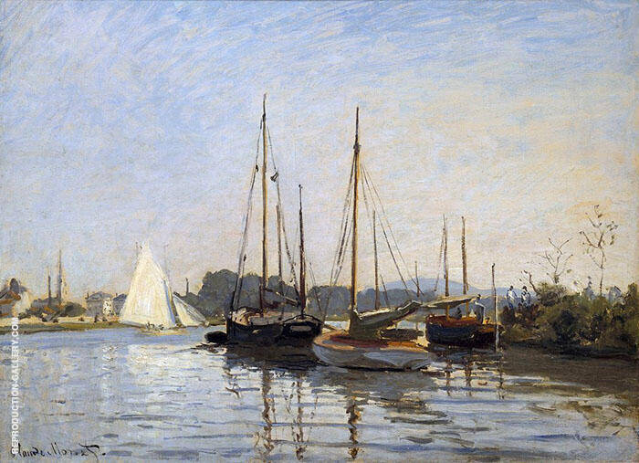 Pleasure Boats at Argenteuil by Claude Monet | Oil Painting Reproduction Replica On Canvas - Reproduction Gallery