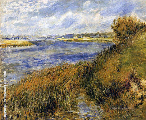 Banks of the Seine a Champrosay 1876 By Pierre Auguste Renoir - Oil Paintings & Art Reproductions - Reproduction Gallery