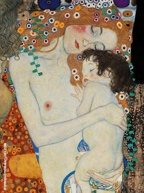 Mother and Child By Gustav Klimt - Oil Paintings & Art Reproductions - Reproduction Gallery