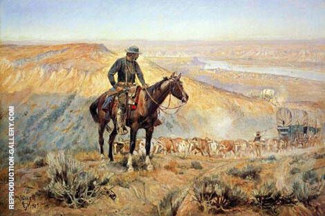 The Wagon Boss By Charles M Russell - Oil Paintings & Art Reproductions - Reproduction Gallery