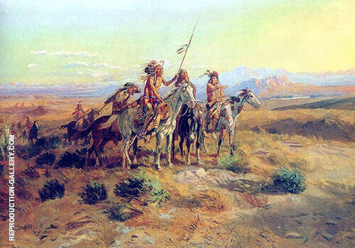 The Scouts Painting By Charles M Russell - Reproduction Gallery