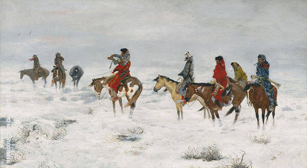 Lost in a Snowstorm 1888 By Charles M Russell