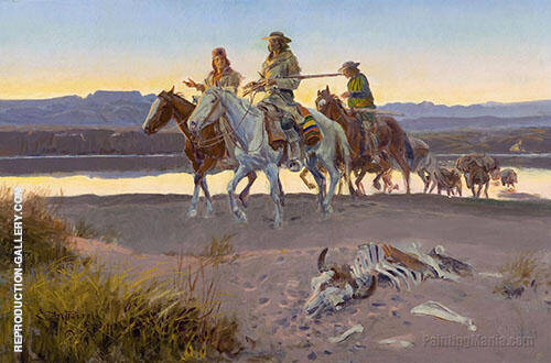 Carson's Men Painting By Charles M Russell - Reproduction Gallery