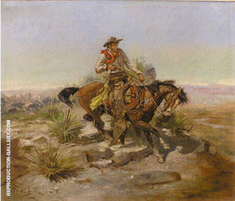 Riding Line By Charles M Russell - Oil Paintings & Art Reproductions - Reproduction Gallery