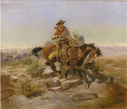 Riding Line By Charles M Russell