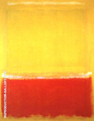 White, Yellow Red on Yellow 1953 By Mark Rothko