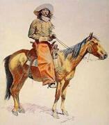 Arizona Cowboy By Frederic Remington