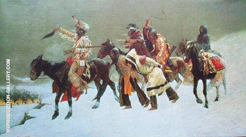 Return of the Blackfoot War Party Painting By Frederic Remington