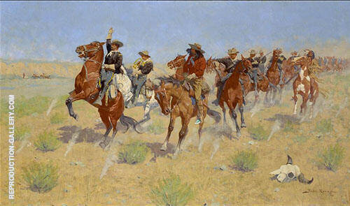 Remington Halt - Dismount By Frederic Remington