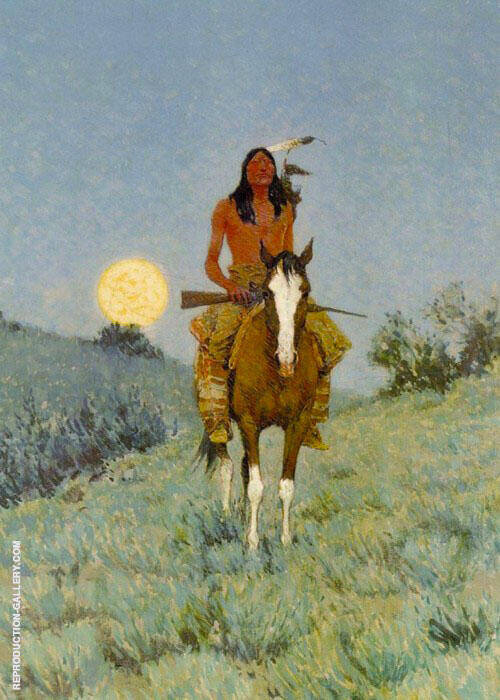 The Outlier Painting By Frederic Remington - Reproduction Gallery