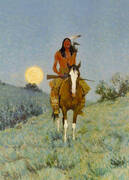 The Outlier By Frederic Remington