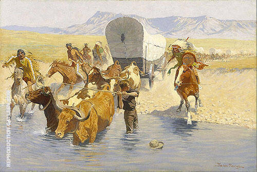 The Emigrants 1901 By Frederic Remington - Oil Paintings & Art Reproductions - Reproduction Gallery