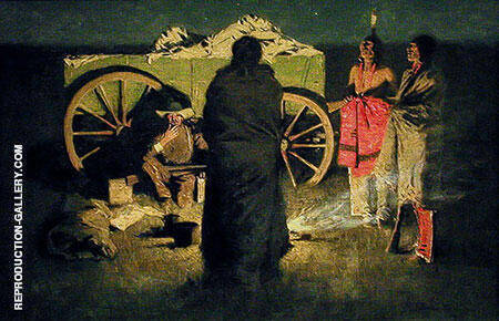 Shotgun Hospitality Painting By Frederic Remington - Reproduction Gallery