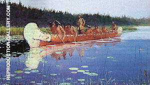 Great Explorers 1905 Painting By Frederic Remington - Reproduction Gallery