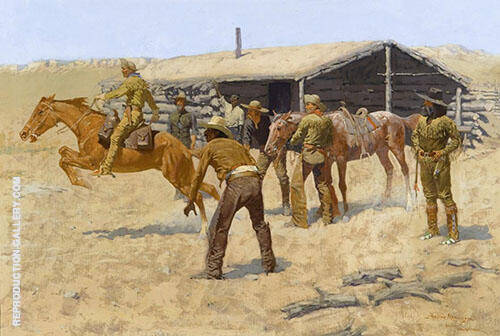 Coming and Going of the Pony Express 1900 By Frederic Remington - Oil Paintings & Art Reproductions - Reproduction Gallery