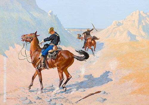 The Advance Guard, The Military Sacrifice, The Ambush 1890 By Frederic Remington