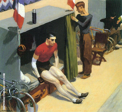 French Six Day Bicycle Racer Painting By Edward Hopper