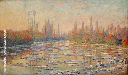 Ice Floes on the Seine 1880 Painting By Claude Monet