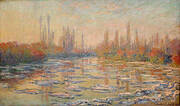 Ice Floes on the Seine 1880 By Claude Monet