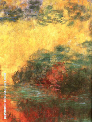 Water Lily Pond Evening detail Painting By Claude Monet