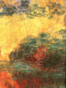 Water Lily Pond Evening detail By Claude Monet