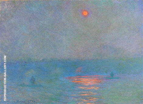 Waterloo Bridge Sun in the Fog 1902 By Claude Monet