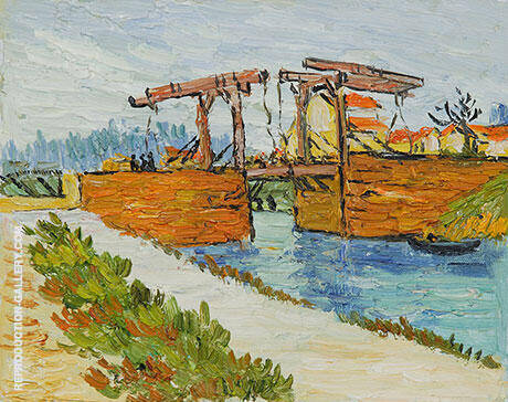 Langlois Bridge at Arles with Road Alongside the Canal By Vincent van Gogh - Oil Paintings & Art Reproductions - Reproduction Gallery