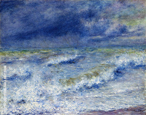 The Wave Seascape Painting By Pierre Auguste Renoir - Reproduction Gallery