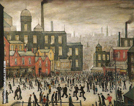 Our Town Painting By L-S-Lowry - Reproduction Gallery
