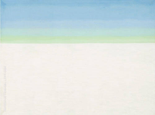 Sky Above White Clouds I 1962 By Georgia O'Keeffe