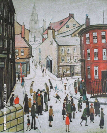 Berwick-on-Tweed Painting By L-S-Lowry - Reproduction Gallery