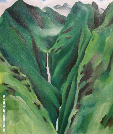 Waterfall No 1 Maui By Georgia O'Keeffe Replica Paintings on Canvas - Reproduction Gallery