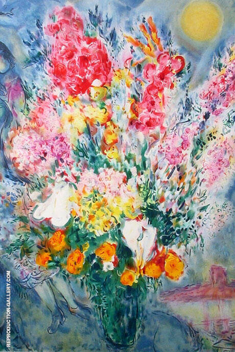 Bouquet de Fleurs Painting By Marc Chagall - Reproduction Gallery